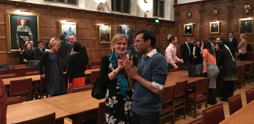 Colleagues celebrate 40th anniversary at Caius